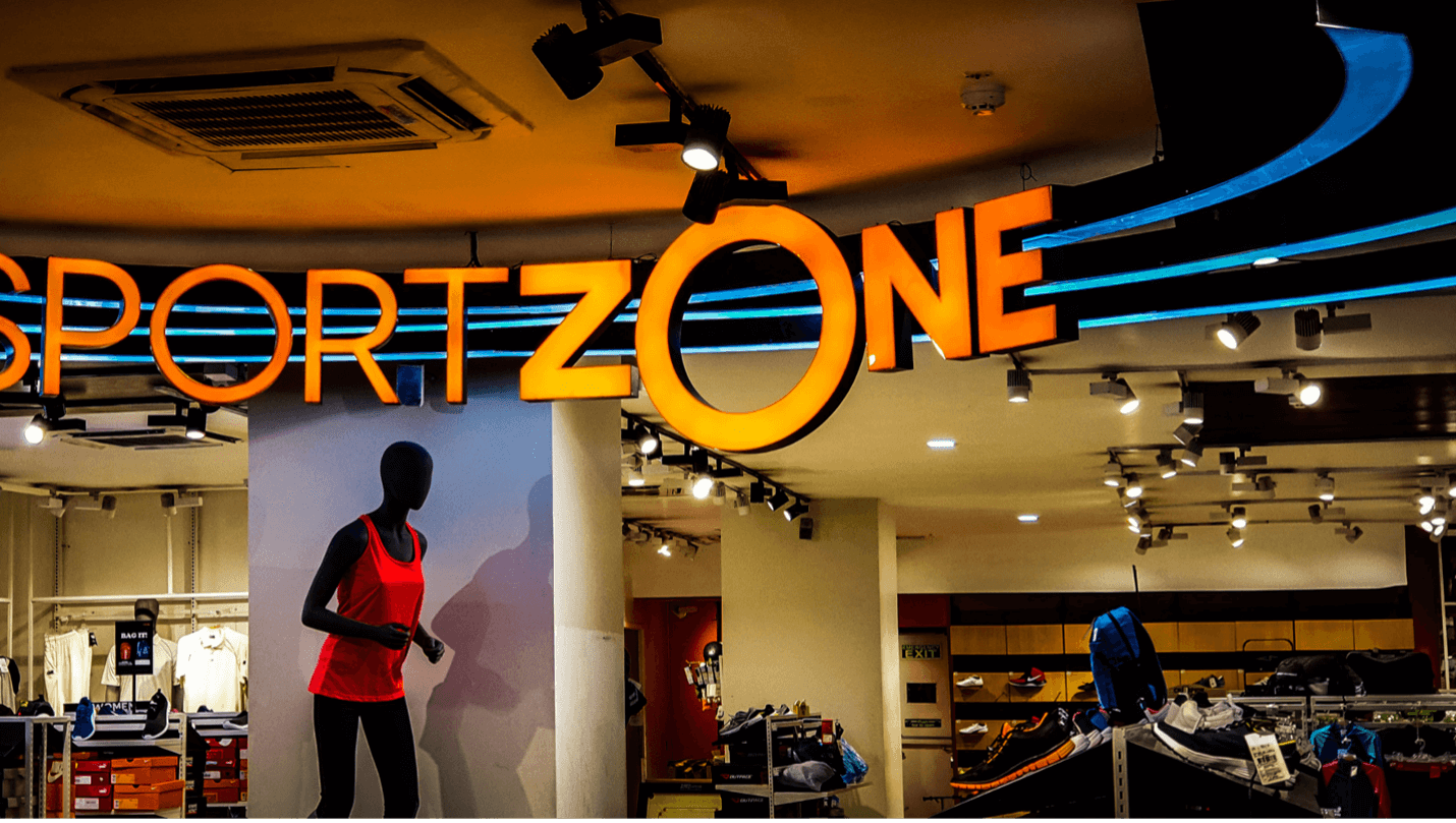photo of a store showing women's athletic gear, one of the top sports marketing trends of 2021