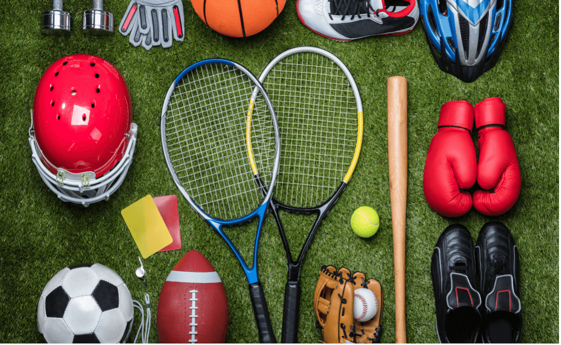 photo of equipment used in sports marketing